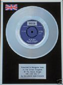"ENGLEBERT HUMPERDINK - 7"" Platinum Disc- THE LAST WALTZ"